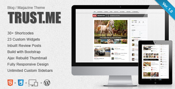TrustMe – Responsive WordPress Magazine / Blog