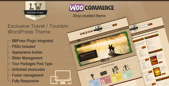 Lost World – Travel, Hotel Woo Commerce WordPress