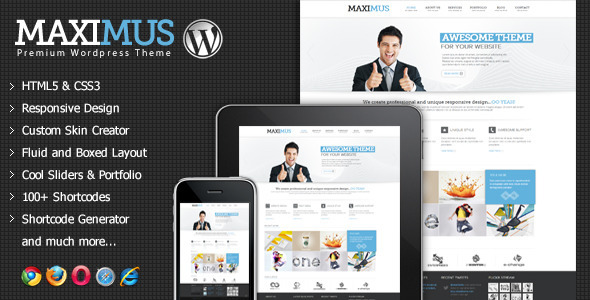 Maximus – Responsive Multi-Purpose WordPress Theme