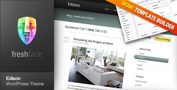 Edison – Business and Portfolio WordPress Theme