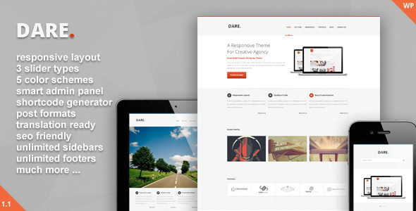 Dare – Clean and Modern WordPress Theme