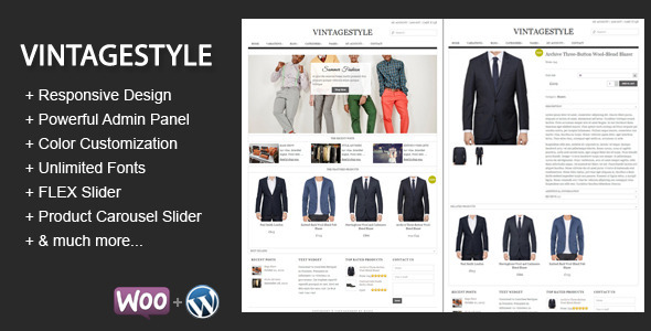 VintageStyle – Responsive E-commerce Theme
