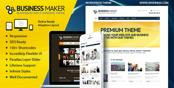 BusinessMaker | Retina Ready Corporate WP Theme