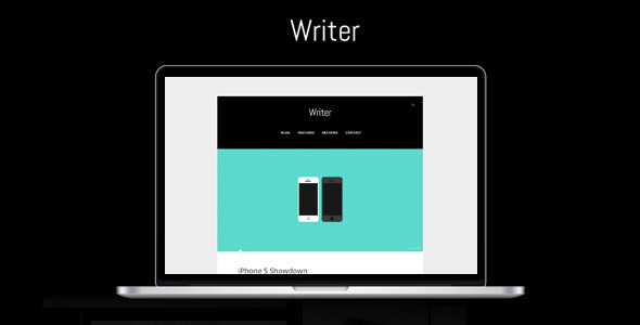 Writer – Minimalistic WordPress Theme