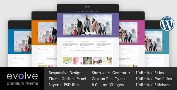 Evolve – Responsive Multipurpose WordPress theme