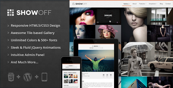 ShowOff – Responsive WordPress Portfolio Theme