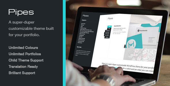Pipes, a Super-duper Customizable WordPress Theme