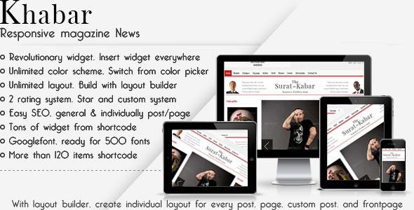 Khabar – Magazine News WordPress Theme
