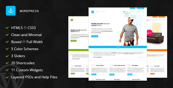 Anchors – Portfolio and Business WordPress Theme