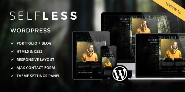 Selfless – A One Page WordPress VCard Theme