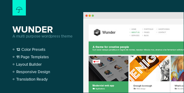 Wunder – Multi Purpose WordPress Theme