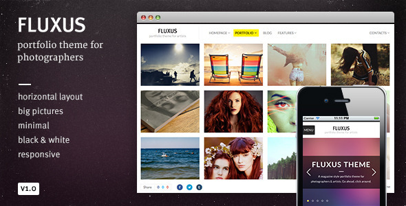 Fluxus – Portfolio Theme for Photographers