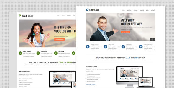 SmartGroup – Clean Marketing WordPress Theme