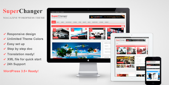 SuperChanger – Responsive WordPress Theme