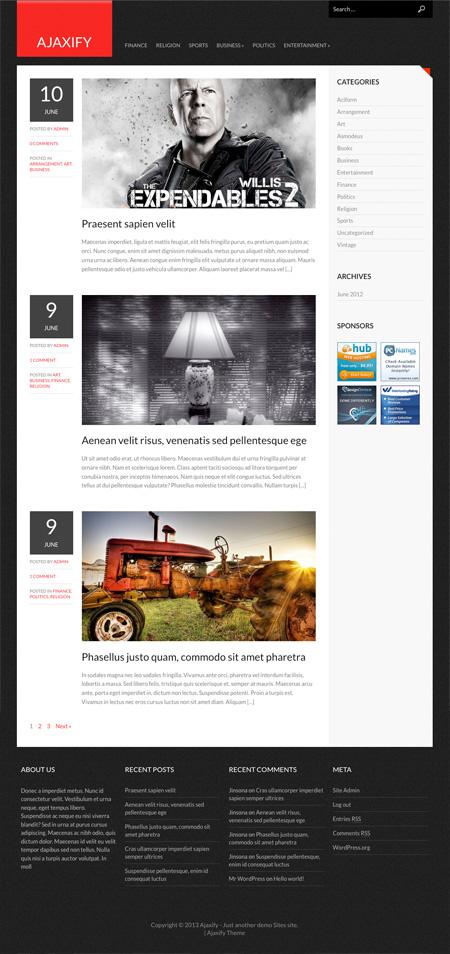 Ajaxify  WordPress Theme Free Download