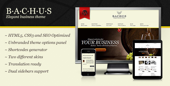 Bachus – Elegant business theme