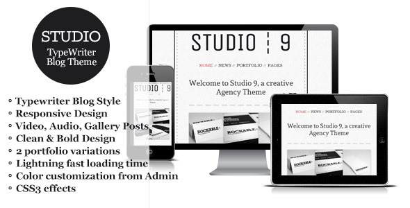 Studio 9 – a Creative Agency Portfolio WordPress Theme