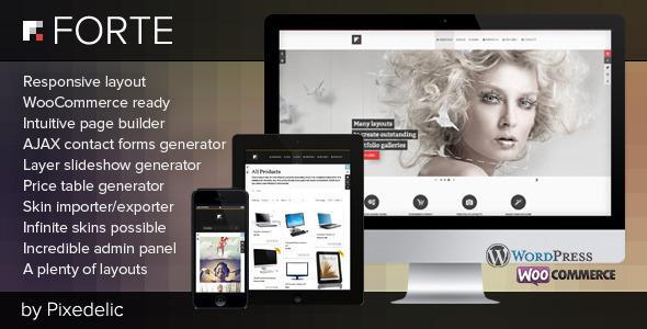 Forte multipurpose WP theme (eCommerce ready)