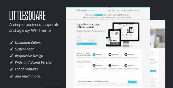 LittleSquare – Responsive WordPress Theme