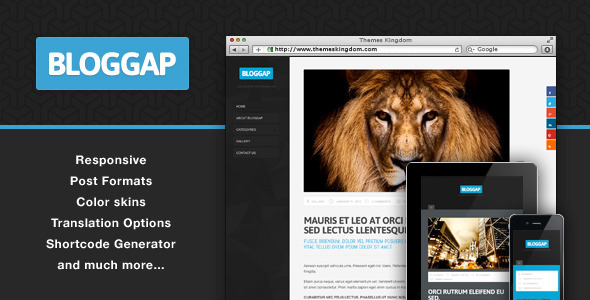 Bloggap – Responsive Blog WordPress Theme