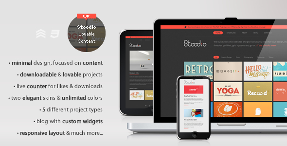 Stoodio – A minimal theme for lovable content