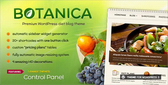 Botanica – Diet & Fietness WordPress Theme