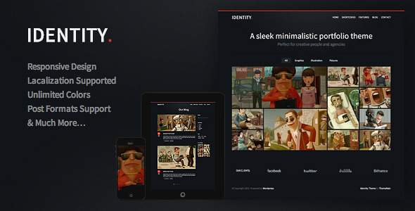 Identity – Responsive WordPress Theme
