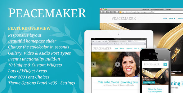 Peacemaker – The WordPress Theme for Churches