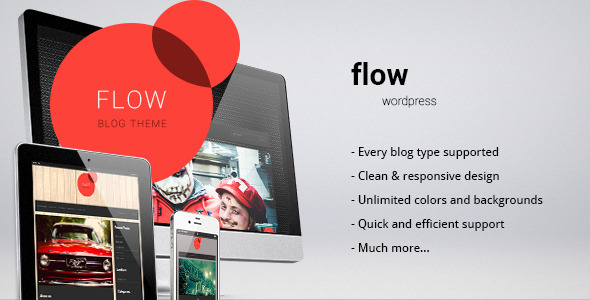 Flow – responsive blog/personal theme