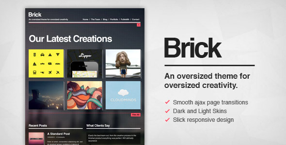 Brick – Creative Ajax WordPress Theme