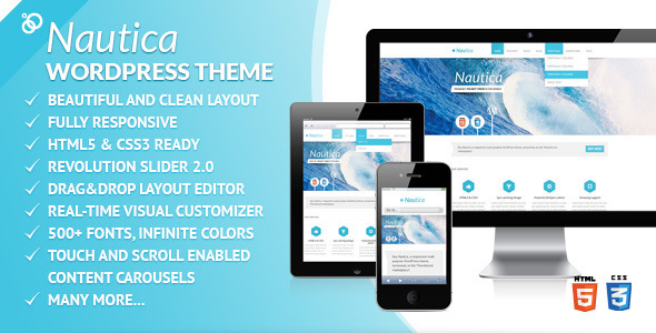 Nautica – Responsive Multi-Purpose WordPress Theme
