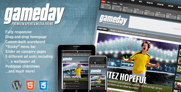 Gameday – WordPress Sports Media Theme