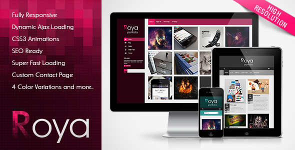Roya – Responsive AJAX Portfolio WordPress Theme