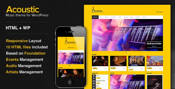 Acoustic – Premium Music WordPress Theme