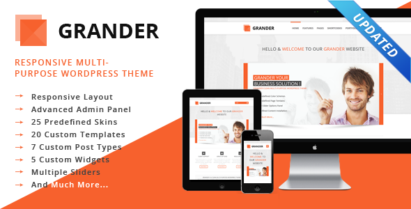 GRANDER – Responsive Multipurpose WordPress Theme