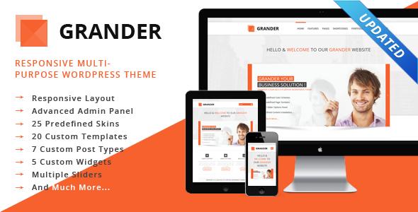 GRANDER – Responsive Multipurpose WordPress Theme