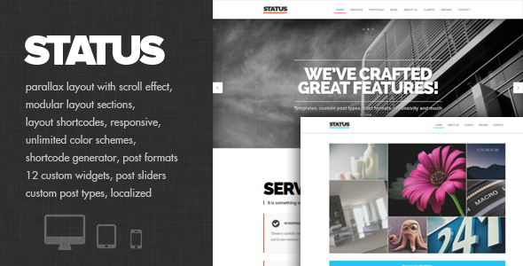Status – Parallax and modular Theme