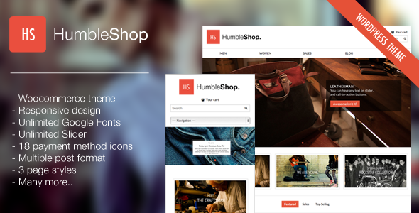 HumbleShop – Minimal WordPress eCommerce Theme