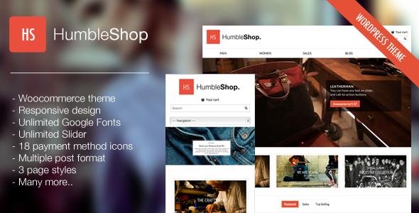 HumbleShop – Minimal WordPress eCommerce Theme
