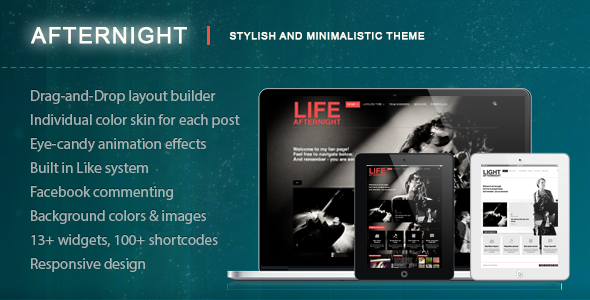 Afternight – A Stylish Minimalist Responsive Theme
