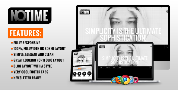 NOTIME – Business Portfolio WordPress Theme