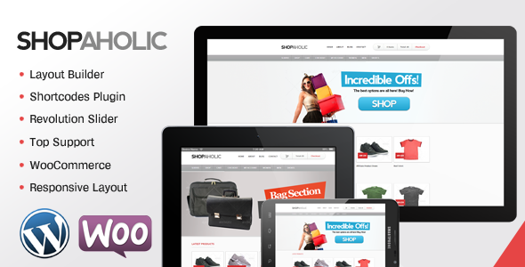 Shopaholic – Powerful WordPress ECommerce Store