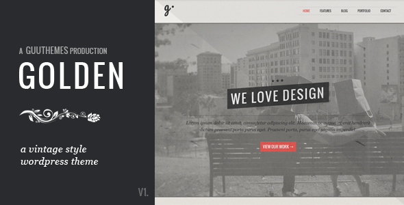 GOLDEN – Responsive Vintage WordPress Theme