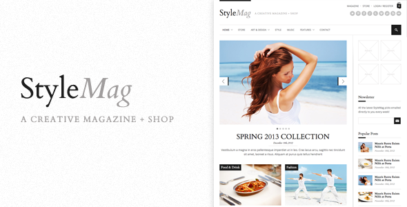 StyleMag – Responsive Magazine/Shop WP Theme