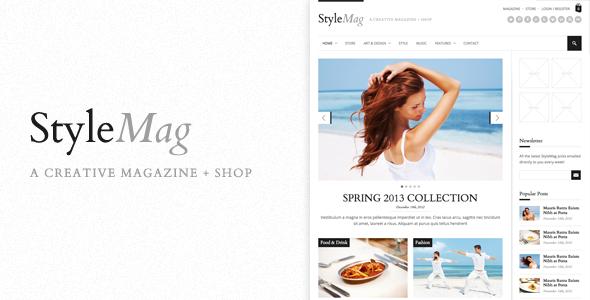 StyleMag – Responsive Magazine/Shop WP Theme