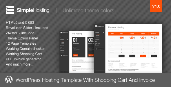 Simple Hosting – Modern WordPress Theme