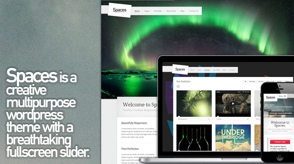 Spaces – Creative Multipurpose Responsive WP Theme