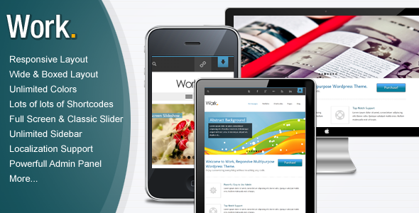 Work – Responsive Multipurpose WordPress Theme
