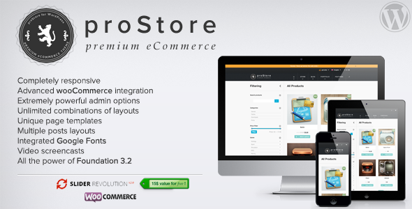 proStore – Premium eCommerce for WordPress