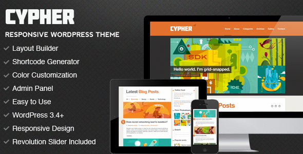Cypher – WordPress Magazine / Portfolio Theme